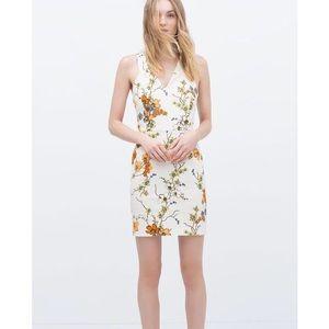 Zara Sleeveless Floral Shift Dress Size Small